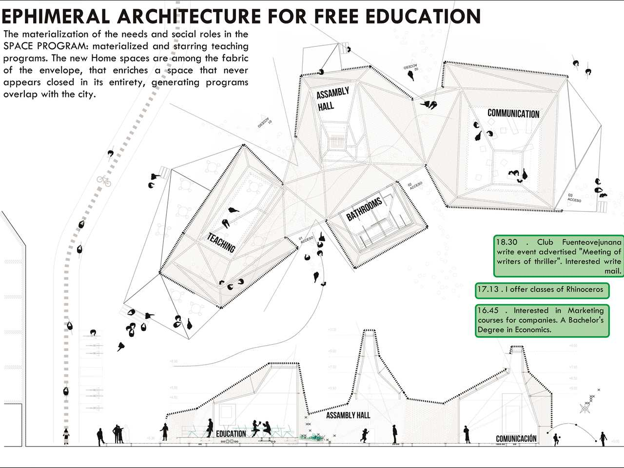 Project entry 2014 Europe – X Marks the Spot: Socially-focused architectural design, Spain