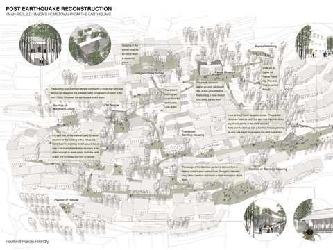 The proposal is a post-earthquake reconstruction plan for Xueshan village, a historic …