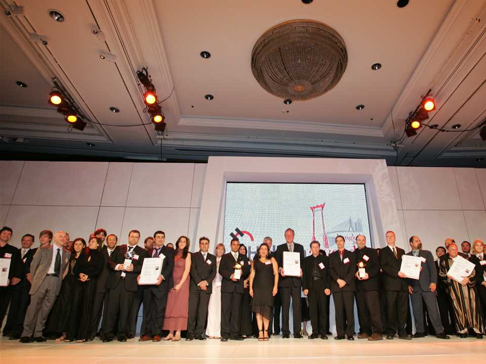 Participants representing all 15 finalist projects were honored at the global Holcim …