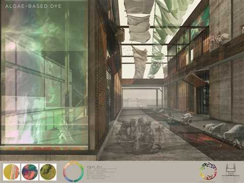 Algae-based dye cultivation: By housing a living organism as part of the architectural …
