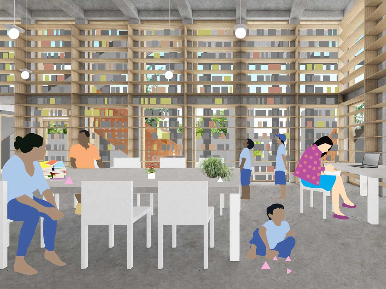 Global finalist entry 2015 - Children's Ziggurat: Locally-adapted orphanage and library