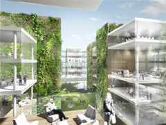 Office building with green hypercore, Milan, Italy