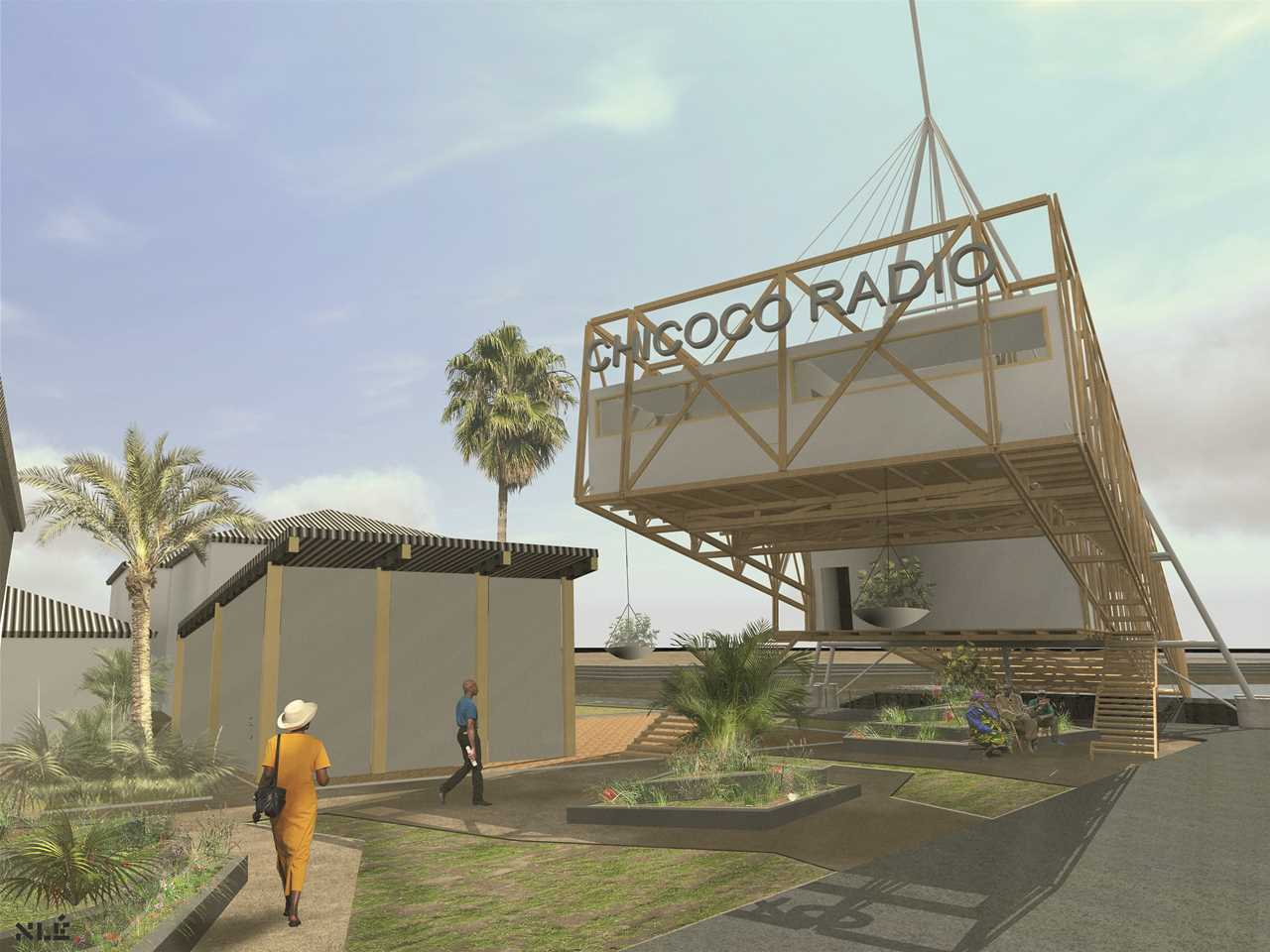 Project entry 2014 Africa Middle East - Chicoco Radio: Community building designed for …