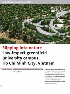 """""""Slipping into nature"""" in Second Holcim Awards for Sustainable Construction 2008/2009"""