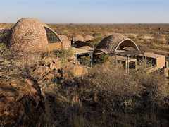 Stabilized earth visitors' center, Mapungubwe National Park, South Africa