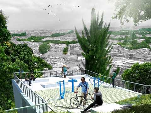New parks and urban viewpoints. River-oriented development.