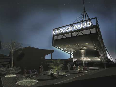 The radio station is also a beacon and landmark for the community.