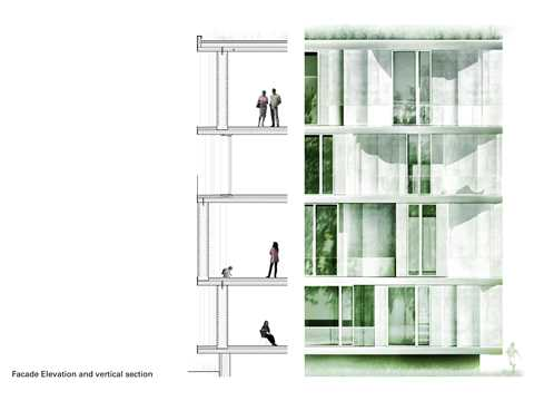 """Project entry 2011 """"Low-cost apartments incorporating smart materials"""", Hamburg, Germany: …"""