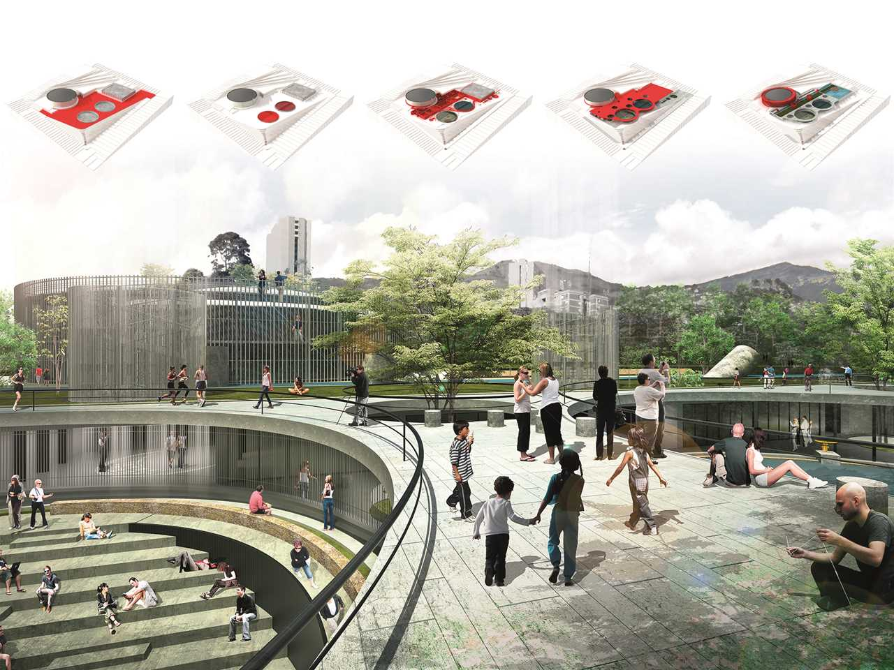 Holcim Awards Gold 2014 Latin America – Articulated Site: Water reservoirs as public park, …