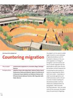 """""""Countering migration"""" in First Holcim Awards for Sustainable Construction 2005/2006"""