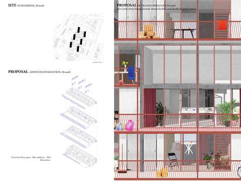 Proposal of transformation + Front Facade View.