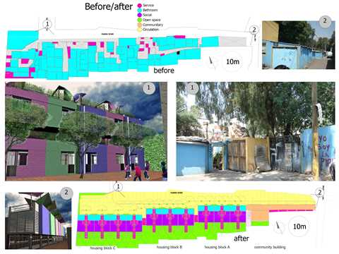 """Project entry 2008 Latin America - """"Eutropia low-cost and space-efficient social housing, …"""