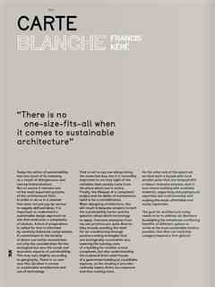 """""""There is no one-size-fits-all when it comes to sustainable architecture"""" / """"Il n'y a pas …"""