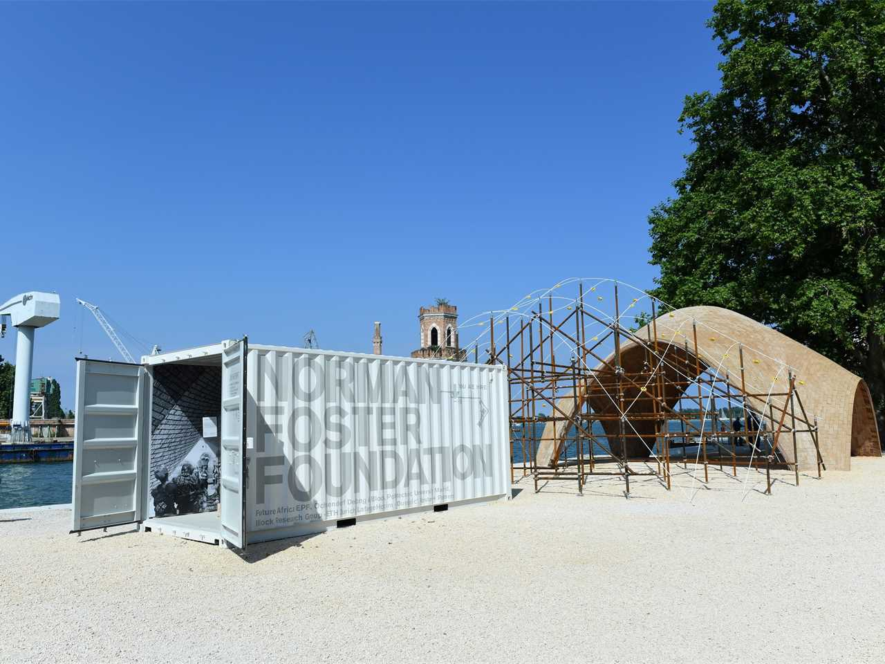 Prototype Droneport Shell – 15th International Architecture Biennale, Venice, Italy