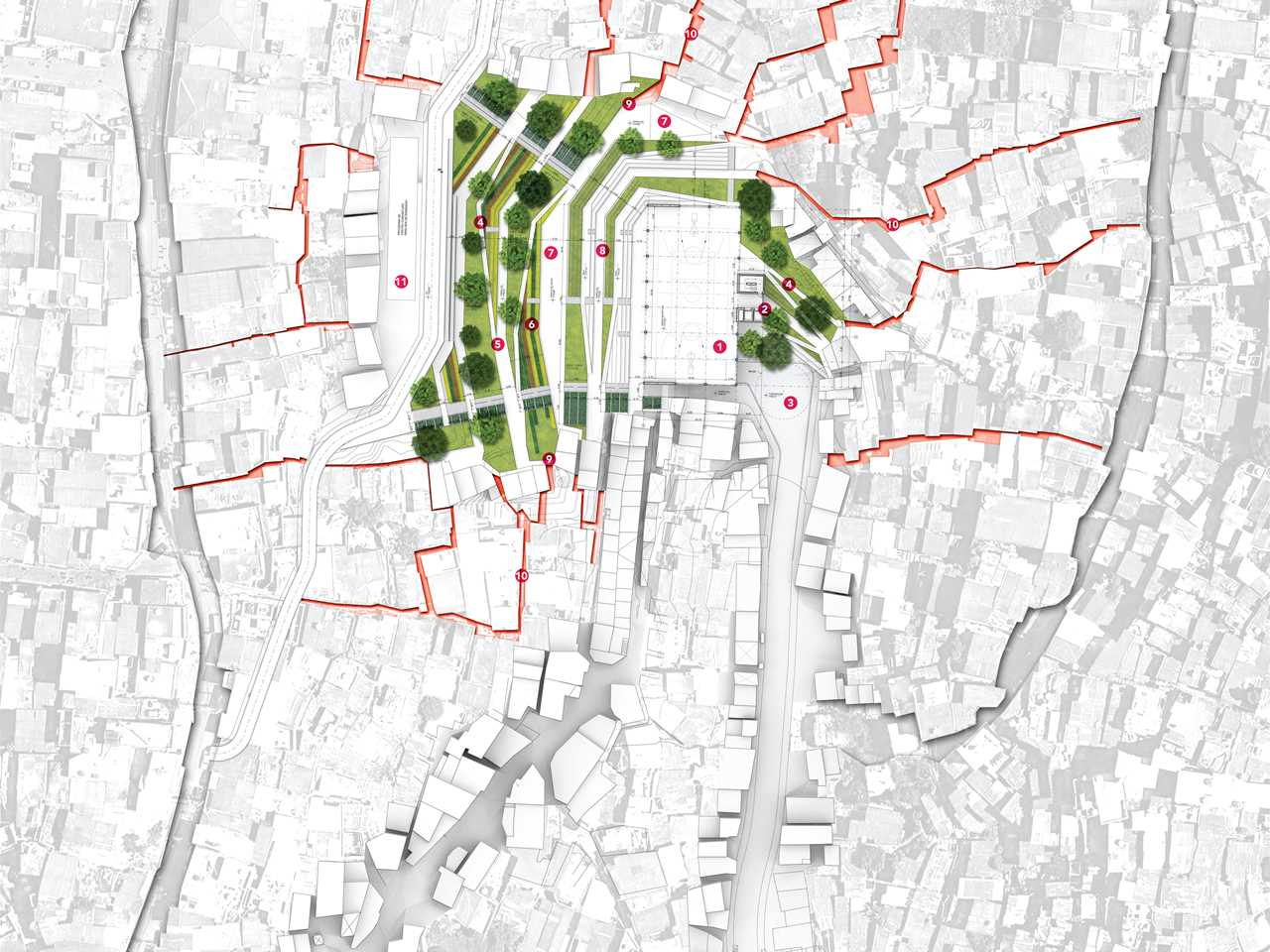 Global Holcim Awards finalist entry 2012 – Urban remediation and civic infrastructure hub, …