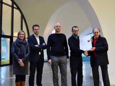 Global Holcim Awards finalist certificate handover – City hall and civic center recycled …