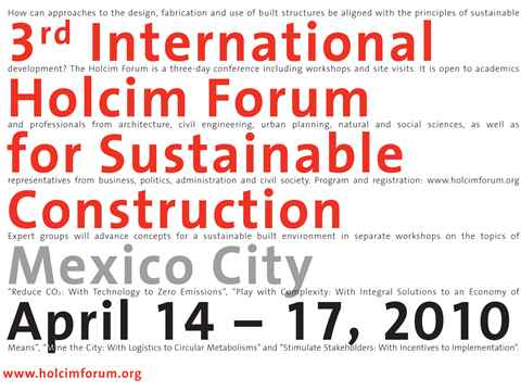 """3rd International Holcim Forum to focus on """"Re-Inventing Construction"""""""