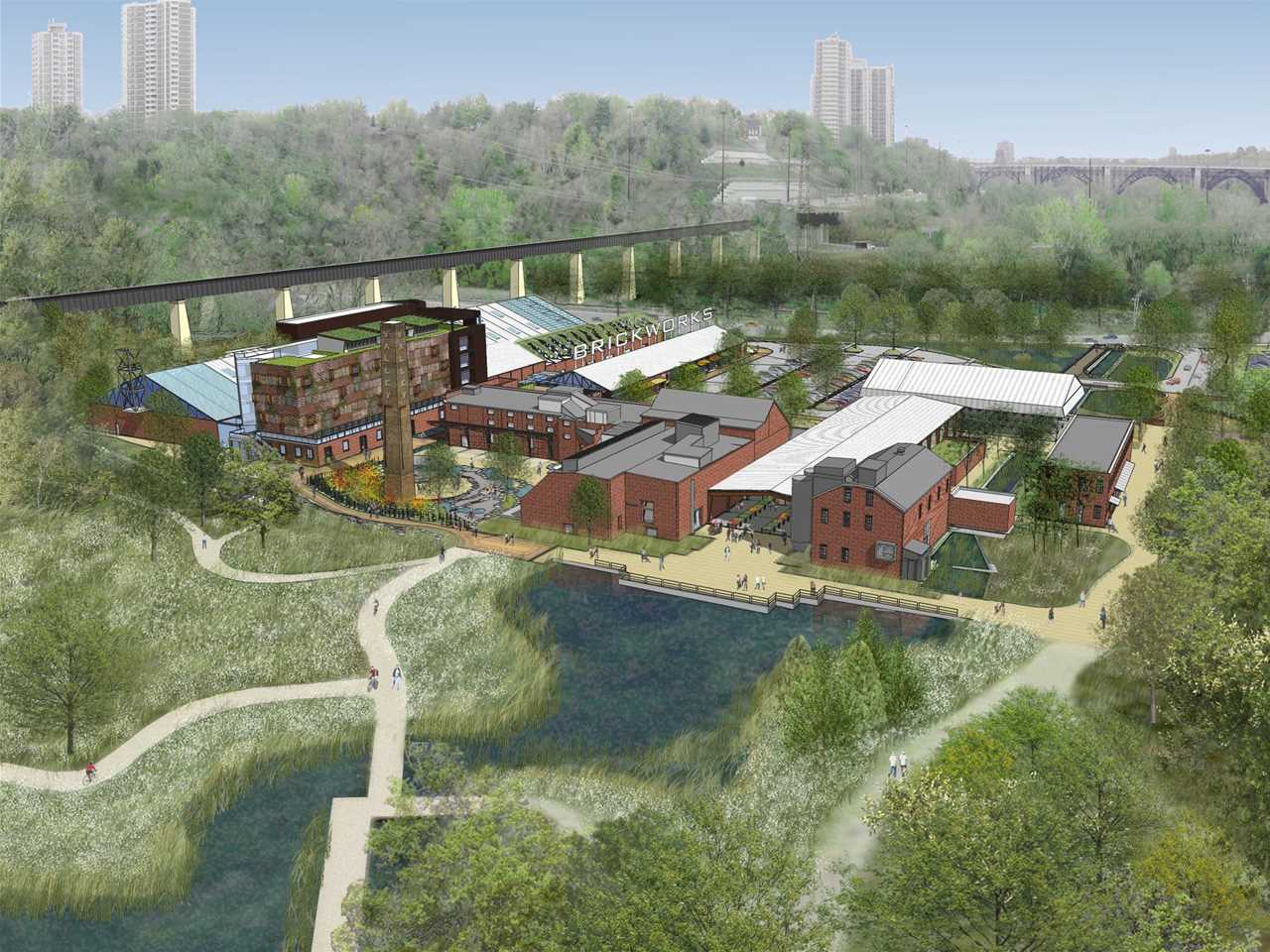 Project entry 2008 North America – Evergreen Brick Works heritage site revitalization, …