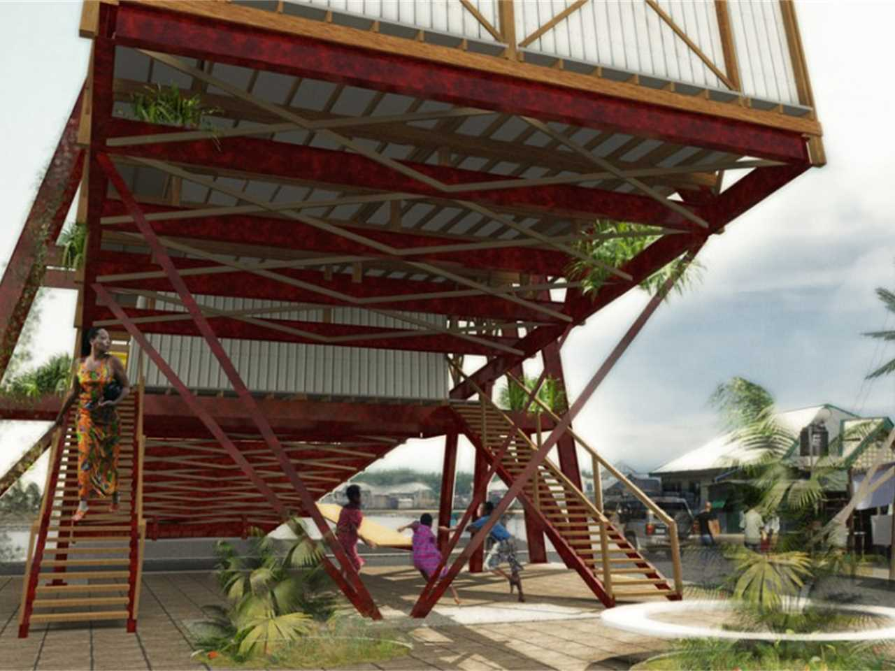 Project update April 2015 – Chicoco Radio: Community building designed for urban flooding