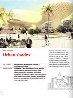 """""""Urban Shades"""" in First Holcim Awards for Sustainable Construction 2005/2006"""