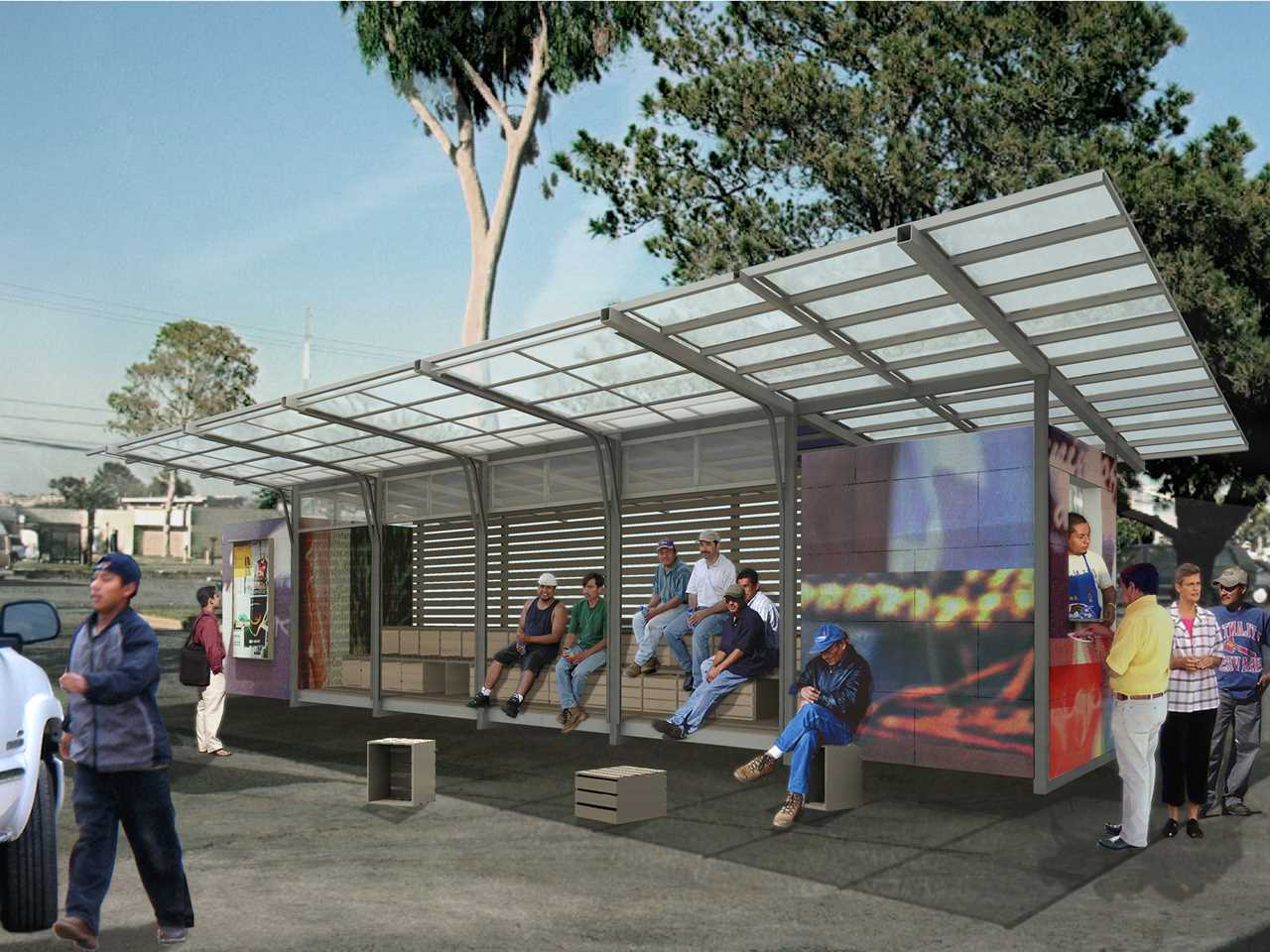 """Global Holcim Awards """"Innovation"""" prize 2009: Self-contained day labor station, San Francisco, USA"""