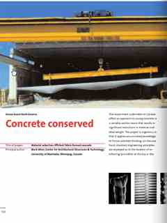 """""""Concrete conserved"""" in First Holcim Awards for Sustainable Construction 2005/2006"""