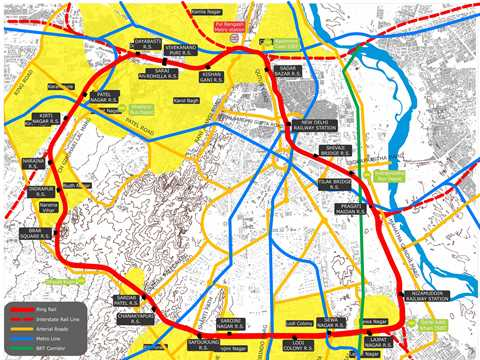 Project entry 2011 - Urban renewal and transport circuit, New Delhi, India: Transport and …