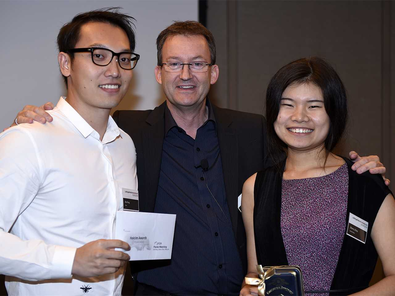 Prize hand-over: Holcim Awards Your Choice Social voting competition 2015