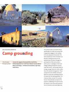 """""""Camp grounding"""" in First Holcim Awards for Sustainable Construction 2005/2006"""
