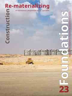 Foundations 23 – Re-materializing Construction