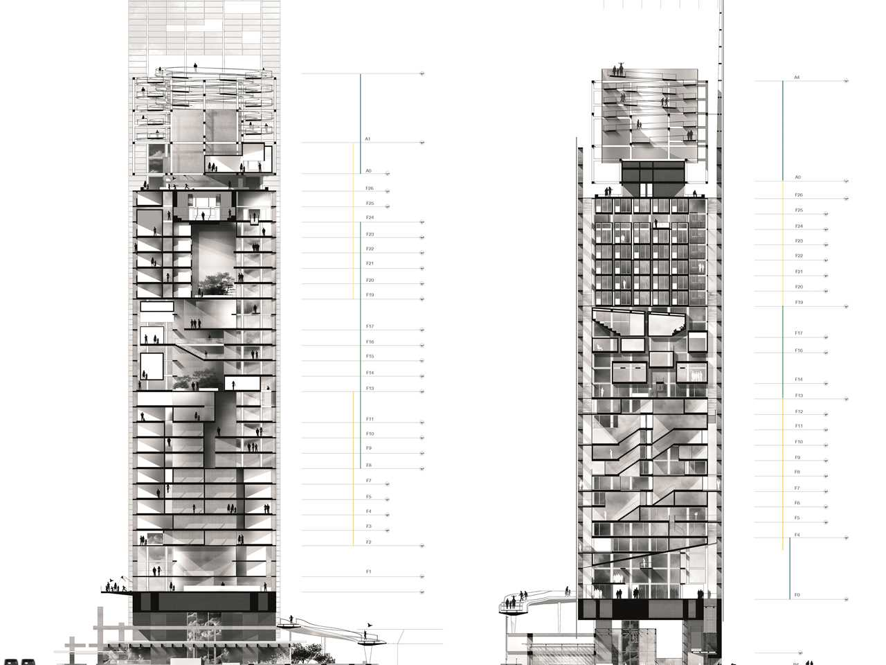 Project entry 2014 Europe – Vertical Restructuring: High-rise tower rehabilitation, Nantes, France