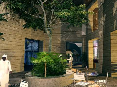 Building implementing holistic architectural design