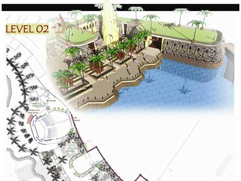 Waterfront sustainable development concept