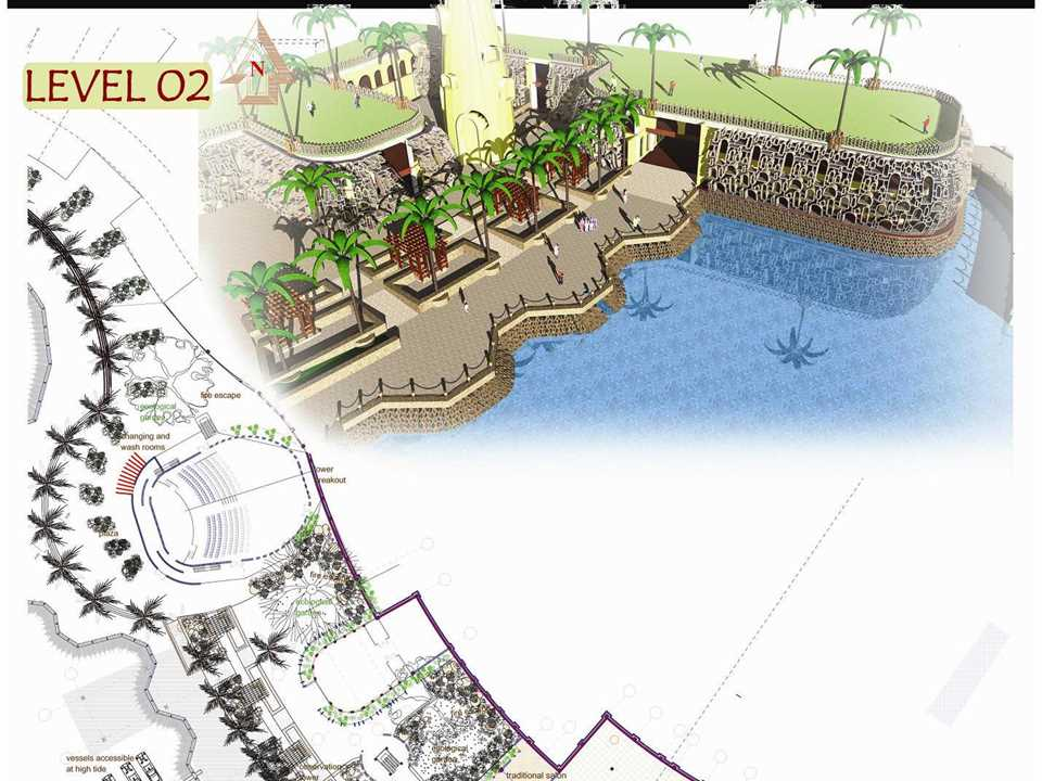 """Holcim Awards """"Next Generation"""" 3rd prize 2008 Africa Middle East: Waterfront sustainable …"""