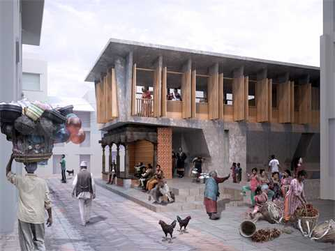 The new building embraces the historic Paati and brings a new typology of resilience …