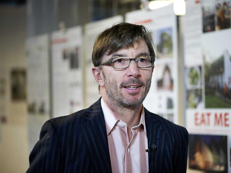 Harry Gugger during the Global Holcim Innovation prize 2012 jury meeting in Zurich, Switzerland.