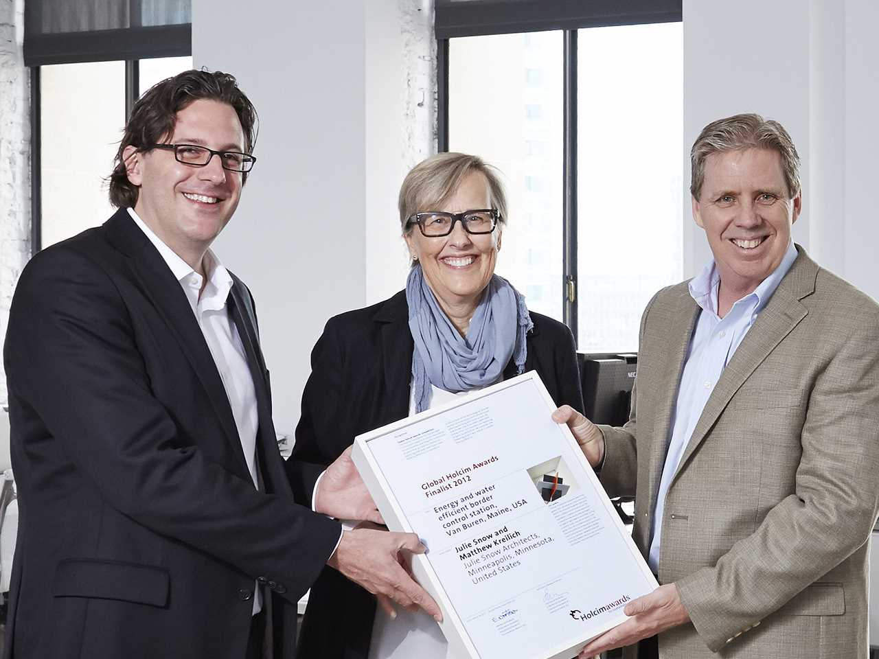 Global Holcim Awards 2012 finalist certificate handover – Energy and water efficient …