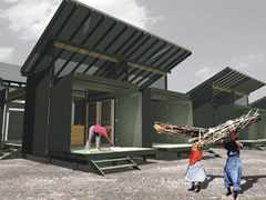 From temporary shelters to permanent housing, Medellín, Colombia
