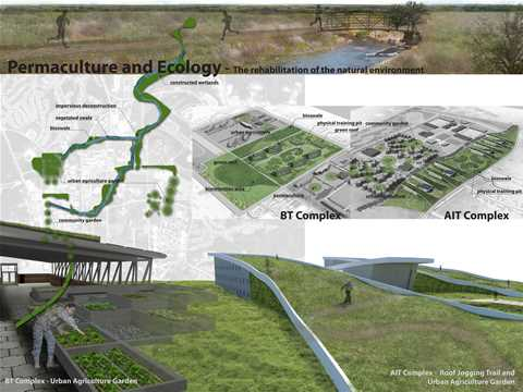 Energy, water and waste efficient military installation