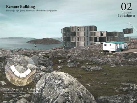 Remote building: the first example is located in Cape Dorset, Nunavut, located high in the …