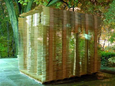 Temporary festival structure using recyclable building components