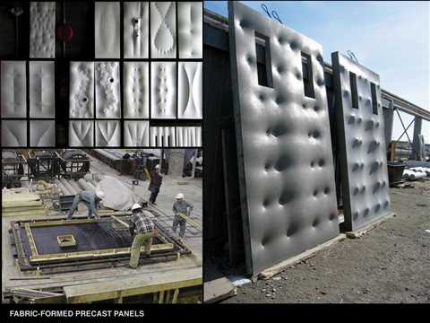 Material Reduction: Efficient fabric-formed concrete