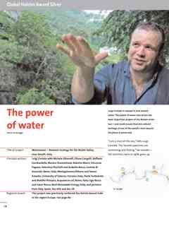 """""""The Power of Water"""" in First Holcim Awards for Sustainable Construction 2005/2006"""