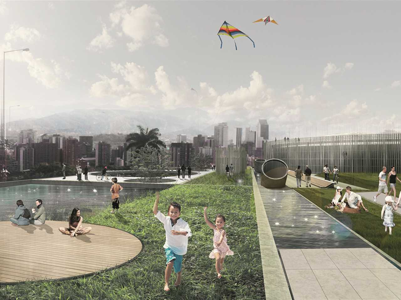Project entry 2014 Latin America – Articulated Site: Water reservoirs as public park, …