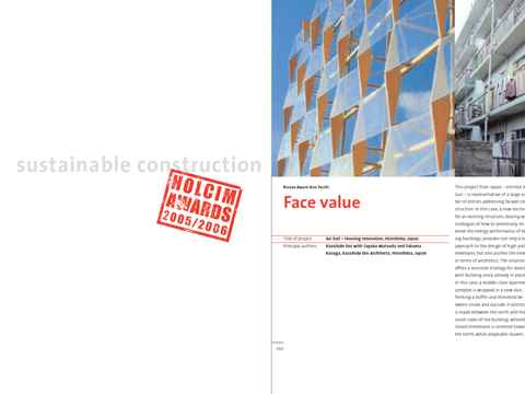 """""""Sustainable construction - Holcim Awards 2005/2006"""" features expert contributions and …"""