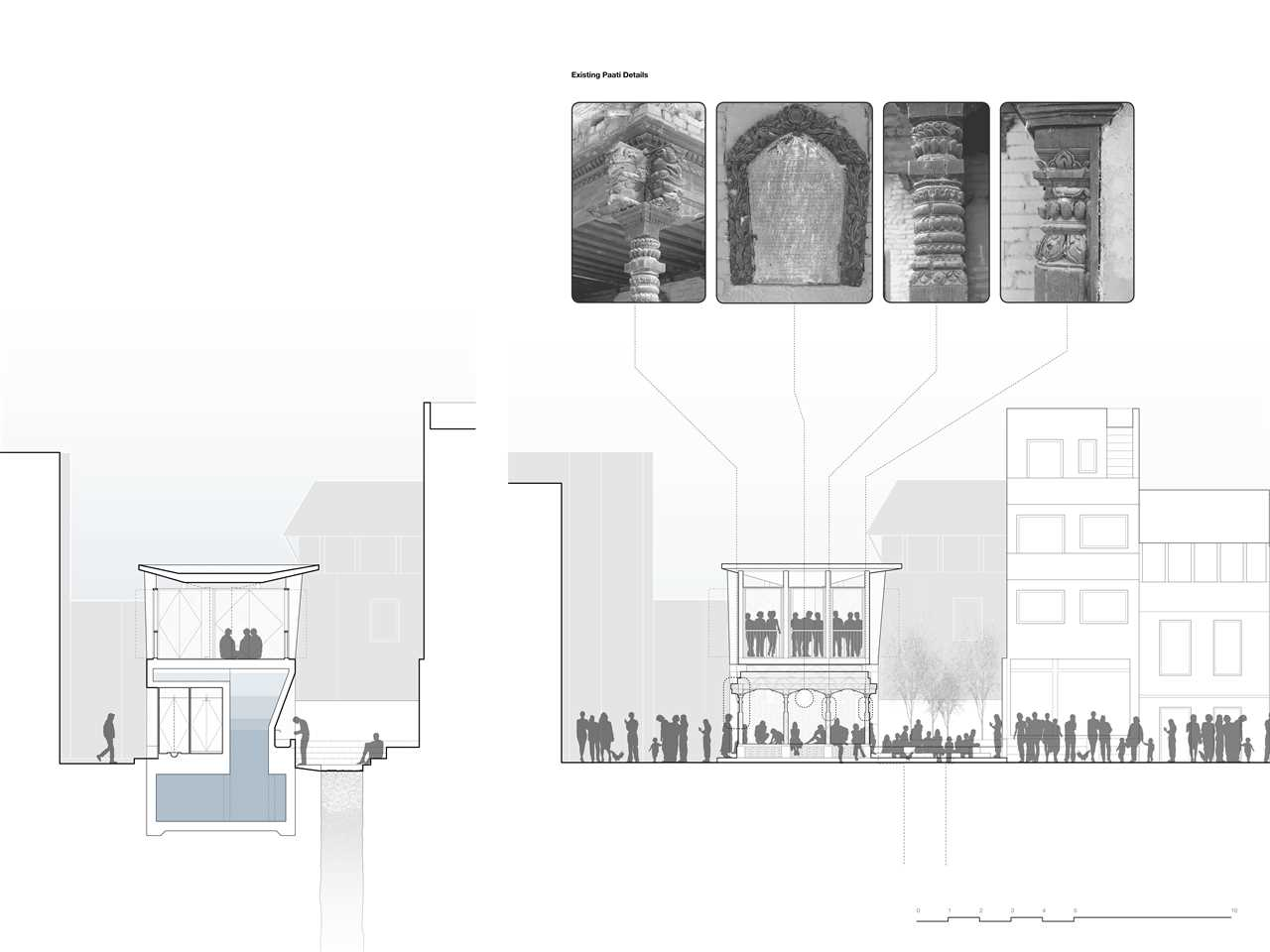 Multifunctional public space, Thecho, Nepal