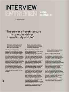 """""""The power of architecture is to make things immediately visible"""" / """"L'architecture a le …"""