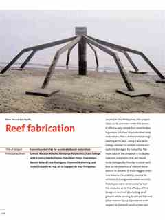 """""""Reef fabrication"""" in First Holcim Awards for Sustainable Construction 2005/2006"""