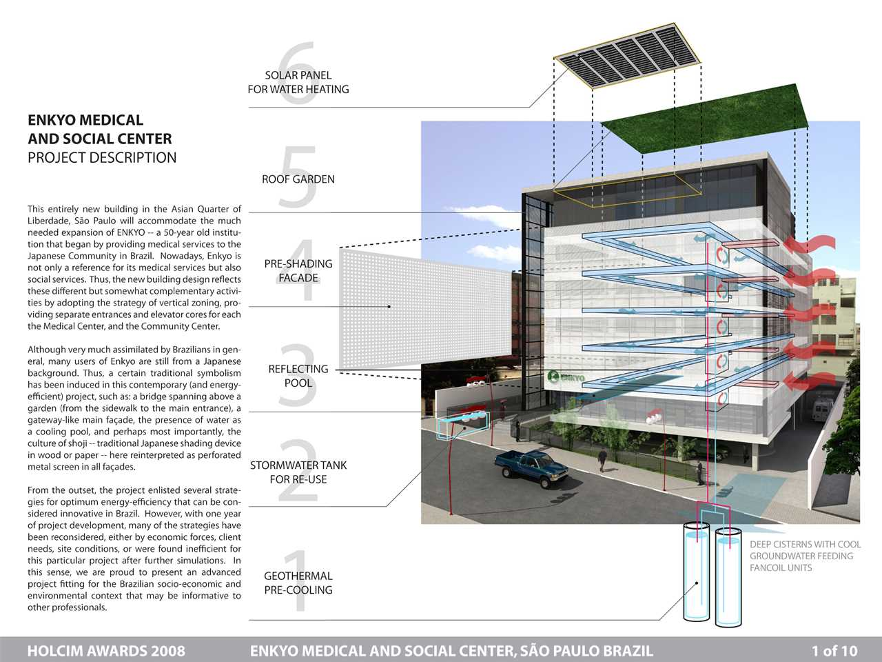 Holcim Awards Acknowledgement prize 2008 Latin America: Energy-efficient medical and …
