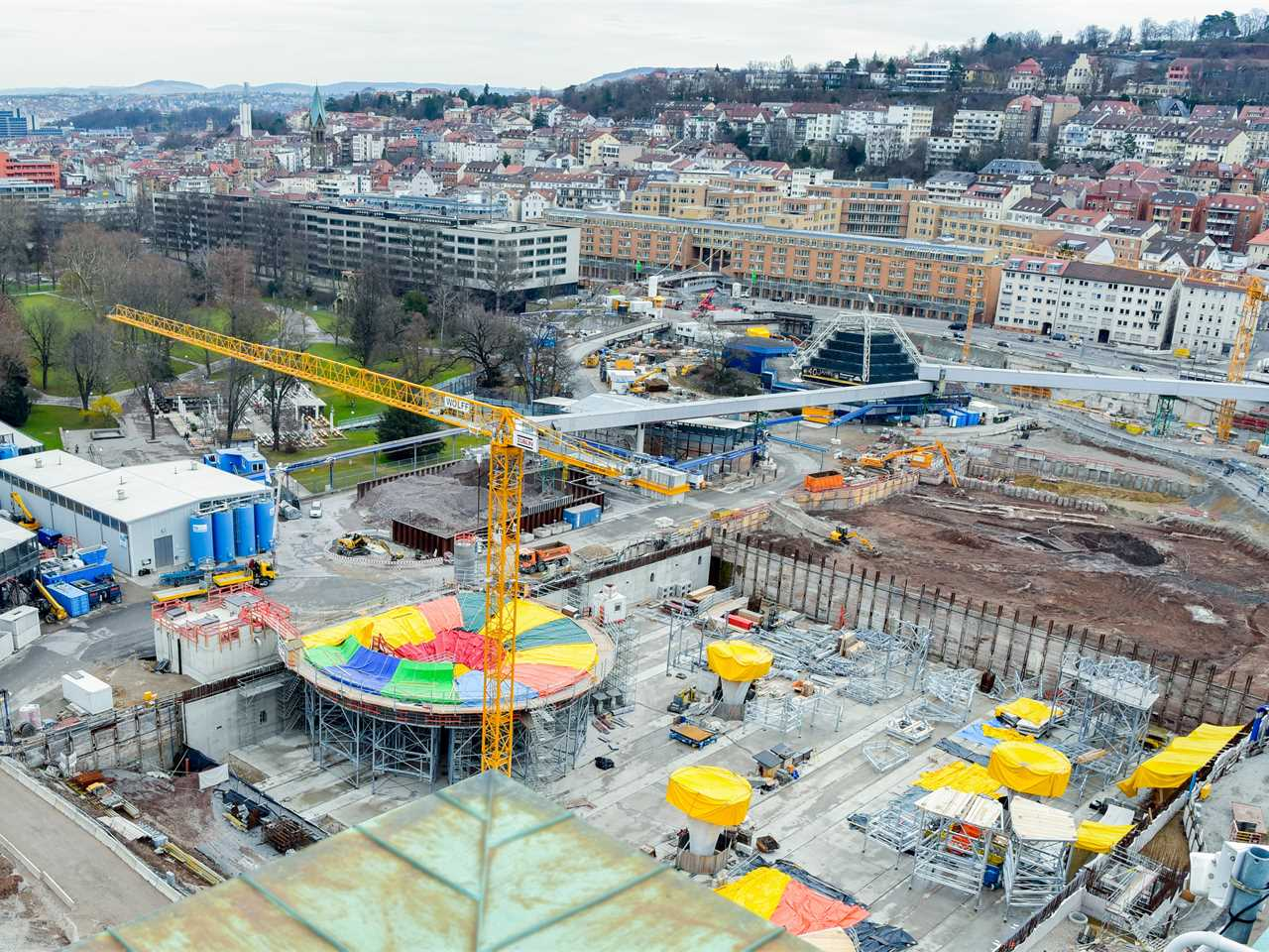 Project update March 2018: Construction of chalice-shaped concrete pillars in Stuttgart commences
